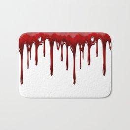 Blood Dripping White Bath Mat