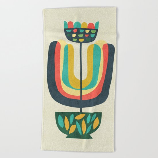 Potted Plant 3 Beach Towel