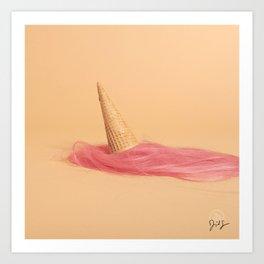 Hair in Food: Ice Cream Art Print