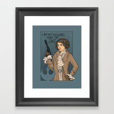 She's Young, Scrappy, and Hungry. Framed Art Print