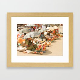 Umbrellas & Coconuts Framed Art Print