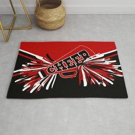 Dark Red Cheerleader Spirit Rug