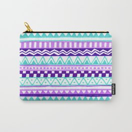 Purple Turquoise Inca Pattern Carry-All Pouch