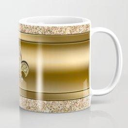 Pink & Gold Glitter Fleur De Lis Coffee Mug