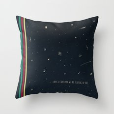 We are floating in space Throw Pillow