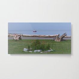 Coastal Paradise Scene Metal Print