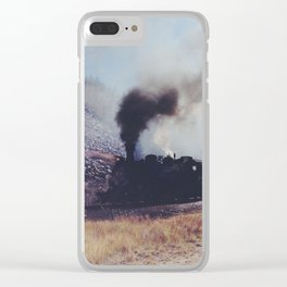 Mountain Train Clear iPhone Case