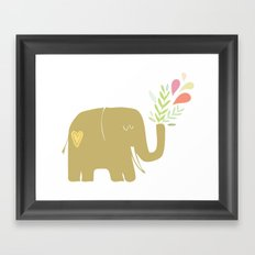 Elephant spouting secrets Framed Art Print