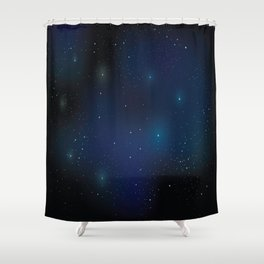 Galaxy on your fingertips Shower Curtain