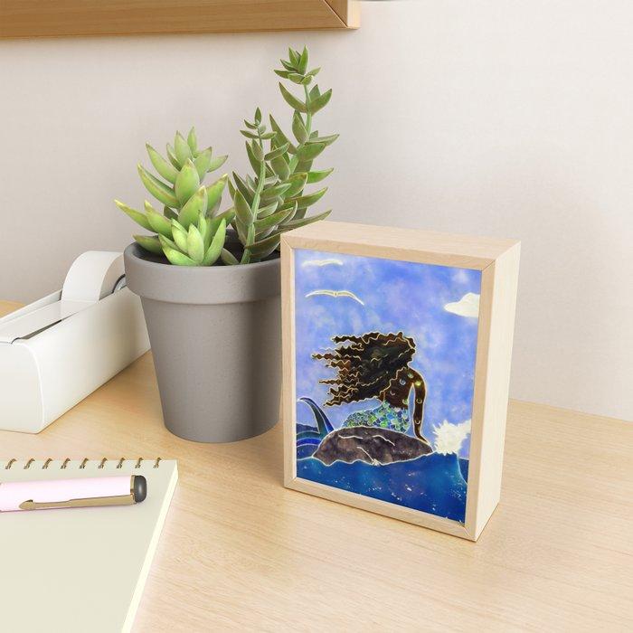 Lady of the Atlantic Crossing Framed Mini Art Print