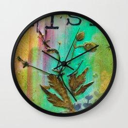 Playing With Arts No. 2 Wall Clock