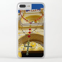 Month of the Rosary Clear iPhone Case