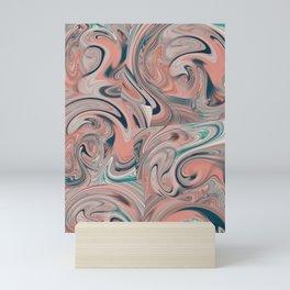 Skin color & blue flow Mini Art Print