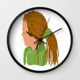 Ponytail Dread Wall Clock