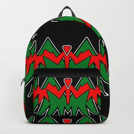Heart Beat on Black Backpack