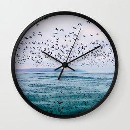 Birds Reflected Fine Art Print Wall Clock