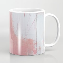 Melody: a pretty minimal abstract painting in gold pink and white by Alyssa Hamilton Art Coffee Mug