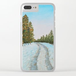Frozen Path Clear iPhone Case