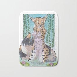 Serval Kitsune - SFW Bath Mat