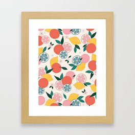 Citrus crush Framed Art Print