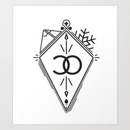 Colorado Black Diamond Art Print