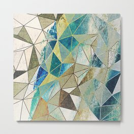 Abstract geometric patter.Triangle background Metal Print