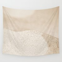 sand Wall Tapestries featuring sand by  Agostino Lo Coco