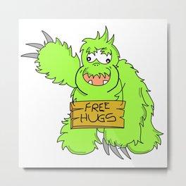 free hugs monster Metal Print