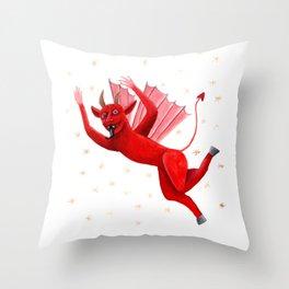 Little Demon Throw Pillow