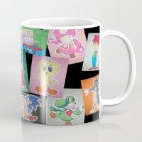 cartoon Mugs featuring Cartoon Family by DeMoose_Art