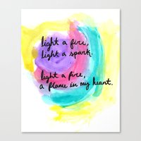 charlie brown Canvas Prints featuring charlie brown / coldplay  by sarah duncan