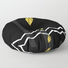 Meraki Fall [Gold Noir] Floor Pillow