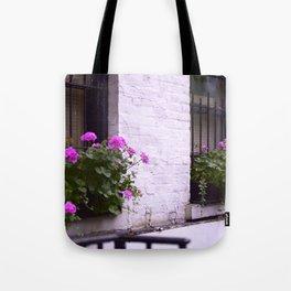 Pink Flower Box Tote Bag
