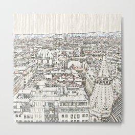 Austria - sketchy Vienna 1 Metal Print