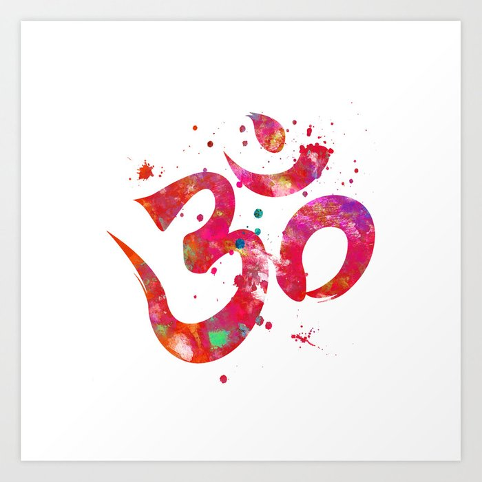 Colorful Om Symbol Art Print By Miaomiaodesign Society6
