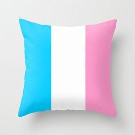 Parody of the french flag -France,Paris, pink, Marseille, lyon, Bordeaux,love, girly,fun,idyll,Nice Throw Pillow