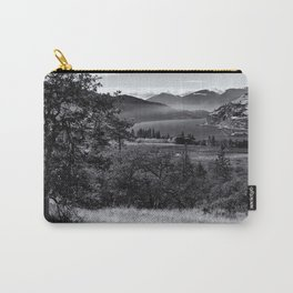 Scenic Columbia River Gorge in Black and White Carry-All Pouch