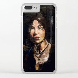 RTR Lara Croft Clear iPhone Case