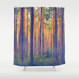 Forest - Filtering light Shower Curtain