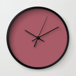 Deep Puce - solid color Wall Clock