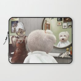 Barber Shop Laptop Sleeve