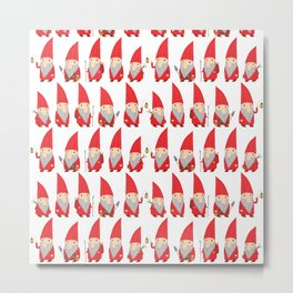 Gnome Pattern Metal Print