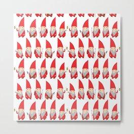 Gnome Pattern Metal Print
