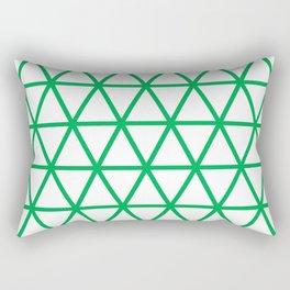 Green Triangle Pattern 2 Rectangular Pillow