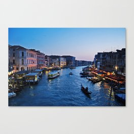 Venice at dusk - Il Gran Canale Canvas Print
