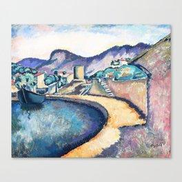 Eugeniusz Zak - Coastal landscape in the south - Digital Remastered Edition Canvas Print