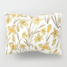 Yellow Floral Pattern Pillow Sham