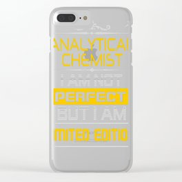 ANALYTICAL-CHEMIST Clear iPhone Case
