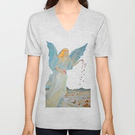 Bless me | Guardian Angels are Here | Angel of Abundance | Love Unisex V-Neck