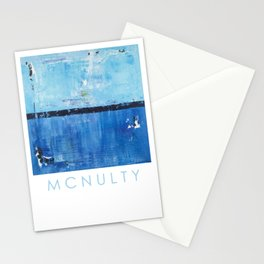Shiver Abstract Art Blue Modern Water Painting  Stationery Cards